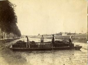 France Euskal Herria near Bayonne Canal River? Old Photo 1880