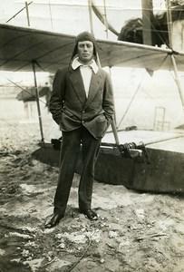France Deauville Aviation Eugene Renaux & Hydravion Farman Ancienne Photo 1913