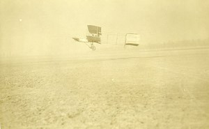France Issy? Airplane Henri Farman No1 Biplane in flight Old Photo 1909