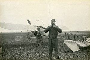France Aviation Lyon Bron Airport Paris Rome Turin Race Legagneux Old Photo 1911