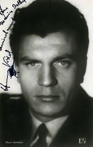 France Movie Artist Henri Vidal Autograph Old RPPC Photo Corbeau 1940's