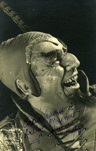 France Music Hall Artist Autograph Old Hubert Coulon Photo 1940's