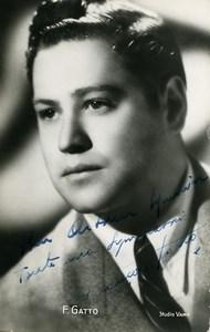 France Opera Artist François Gatto Autograph Old RPPC Photo Vamp 1940's
