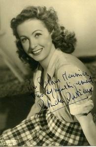 France Cinema Danielle Darrieux Artiste Autographe Ancienne Photo Harcourt 1940's