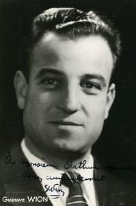 France Operette Gustave Wion Artiste Autographe Ancienne Photo 1940's