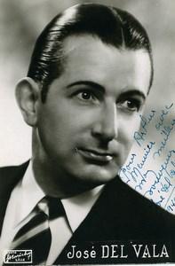 France Operette José Del Vala Artiste Autographe Ancienne Photo Marichez 1940's