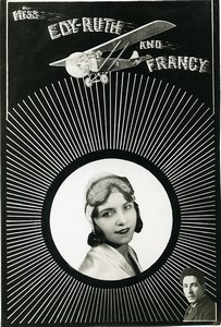 France Music Hall Artiste Edy Ruth & Francy Cirque Acrobates Ancienne Photo 1940's