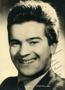 France Cinema Actor Jimmy Gaillard Autograph Old Photo Star 1950