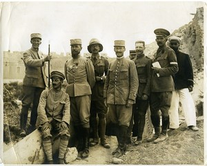 Ottoman Empire WWI General Gouraud & Bailloud at Sedd el Bahr old photo 1915