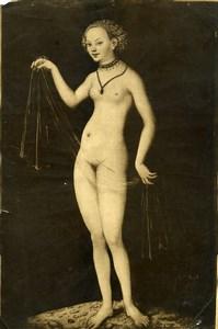 Frankfurt Arts Venus Painting by Cranach Old Bruckmann Photo 1880