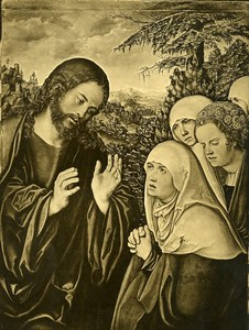 Wien Arts Christ Painting by Cranach Old Bruckmann Photo 1880