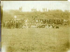 Sports Paris area Run race arival sign Large Group Old Photo 1890