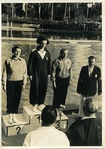 Sports Vienna Belgian Champion Swimming Raymonde Vergauwen Old Photo 1950