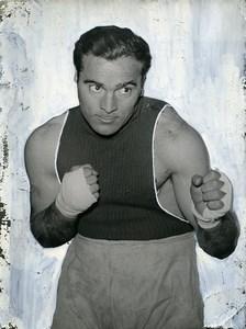 Sports Paris Boxe Marcel Cerdan Old retouched Photo 1950
