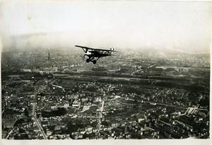 France Panorama Strasbourg Biplane Old Aerial Military Photo 1930