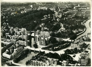 France Panorama Strasbourg St Paul's Church Old Aerial Military Photo 1922