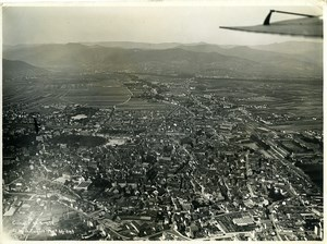 France Panorama Colmar Gangloff Hegly Old Aerial Military Photo 1933