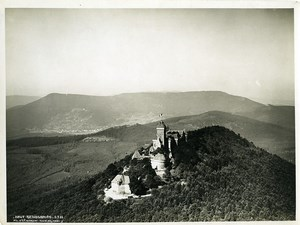 France Alsace Panorama Haut Koenigsbourg castle Old Aerial Military Photo 1933