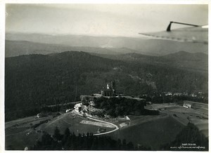 France Alsace Panorama Rocher de Dabo the rock Old Aerial Military Photo 1933