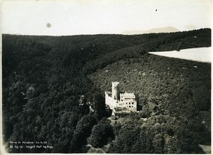 France Alsace Panorama Kintzheim Castle ruins Old Aerial Military Photo 1933