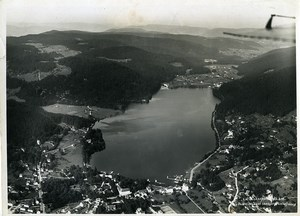 France Alsace Panorama Lac de Gerardmer Lake Old Aerial Military Photo 1933