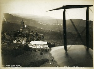 France Alsace Panorama Rocher de Dabo the rock Old Aerial Military Photo 1930