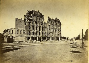 Siege of Paris Commune Ruins Neuilly avenue du Roule Old Liebert Photo 1870