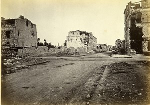 Siege of Paris Commune Ruins Neuilly rue Perronnet Old Liebert Photo 1870