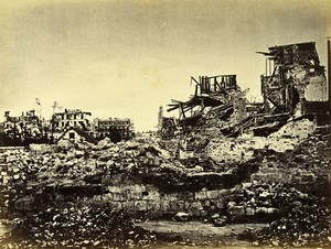 Siege of Paris Commune Ruins Neuilly rue de Chezy Old Liebert Photo 1870