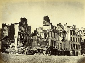 Siege of Paris Commune Ruins Saint Cloud Hotel la Tete Noire Liebert Photo 1870