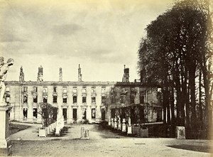 Siege of Paris Commune Ruins Saint Cloud Palace Old Liebert Photo 1870