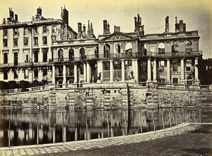 Siege of Paris Commune Ruins Saint Cloud Palace Bassin Old Liebert Photo 1870