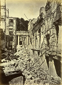 Siege of Paris Commune Ruins Saint Cloud Palace Interior Old Liebert Photo 1870