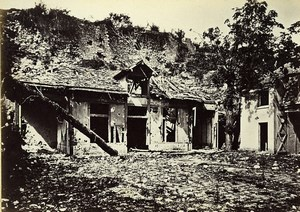 Siege of Paris Commune Ruins Breteuil Redoute & Pavillon Old Liebert Photo 1870