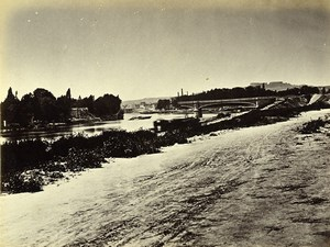 Siege of Paris Commune Ruins Courbevoie bridge Grande Jatte Liebert Photo 1870