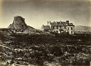 Siege of Paris Commune Ruins Clamart Redoute du Moulin Old Liebert Photo 1870