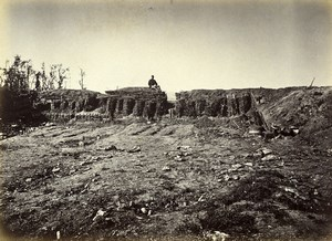 Siege of Paris Commune Ruins Chatillon Redoute du Plateau Old Liebert Photo 1870