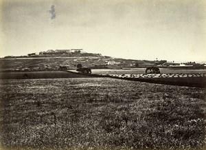Siege de Paris Commune Ruines Fort du Mont Valerien Ancienne Photo Liebert 1870