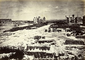 Siege of Paris Commune Ruins Fort d' Issy North Old Liebert Photo 1870