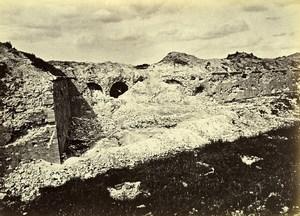 Siege de Paris Commune Ruines Fort d'Issy Remparts Ancienne Photo Liebert 1870