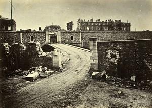 Siege de Paris Commune Ruines Fort de Vanves Entrée Ancienne Photo Liebert 1870