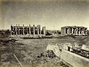 Siege de Paris Commune Ruines Fort de Vanves Interieur Ancienne Photo Liebert 1870