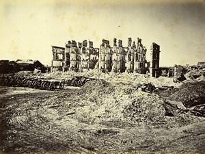 Siege de Paris Commune Ruines Fort de Vanves Casernes Ancienne Photo Liebert 1870