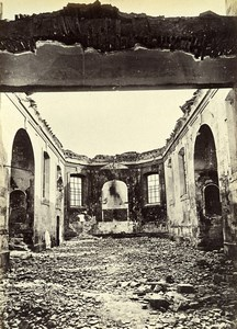 Siege de Paris Commune Ruines Eglise de Bondy Ancienne Photo Liebert 1870