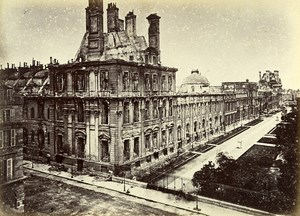 Siege de Paris Commune Ruines Palais des Tuileries Ancienne Photo Liebert 1871
