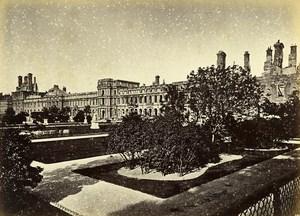 Siege de Paris Commune Ruines Palais des Tuileries Jardins Ancienne Photo Liebert 1871