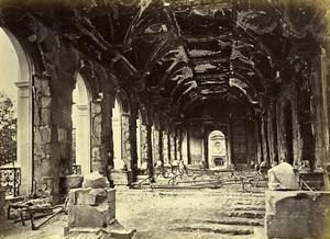 Siege of Paris Commune Ruins Conseil d'Etat Interior Old Liebert Photo 1871
