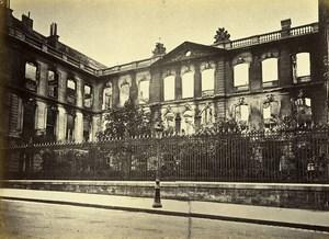 Siege of Paris Commune Ruins Caisse des Dépots Old Liebert Photo 1871