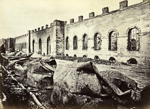 Siege of Paris Commune Ruins Greniers d'Abondance Exterior Liebert Photo 1871