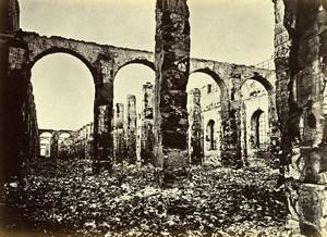 Siege of Paris Commune Ruins Greniers d'Abondance Interior Liebert Photo 1871